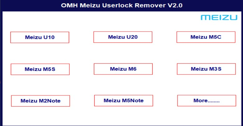 Download Meizu User Lock Remover Tool