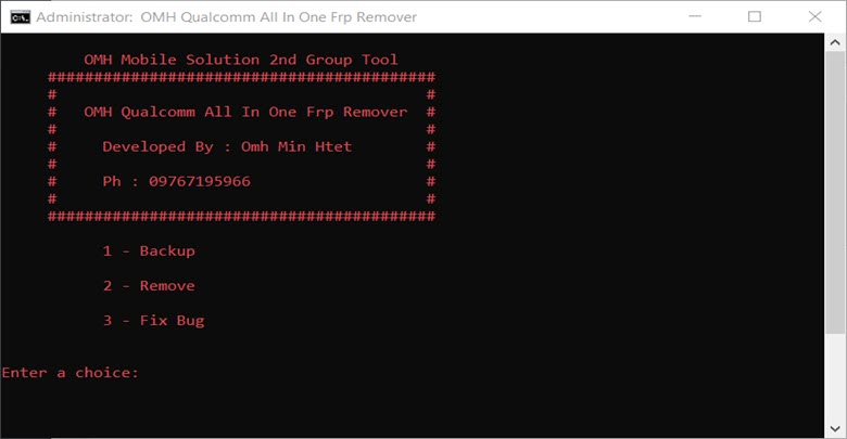 Download Qualcomm All in One FRP Remover Tool