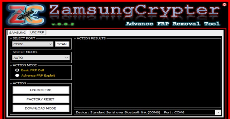 Download Zamsung Crypter FRP Tool